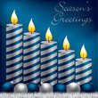 Season's Greetings candle card
