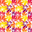 Hawaii style bright flowers seamless pattern