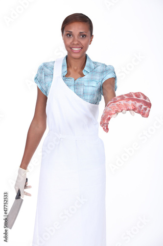 Female butcher