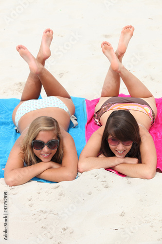 Couple of girls on the beach