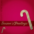 """""""Season's Greetings"""" candy cane card in vector format."""