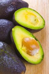 Fresh tropical avocado fruit studio on white background