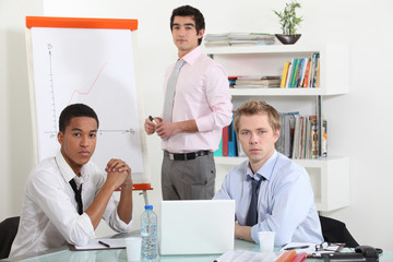 young businessmen on a meeting