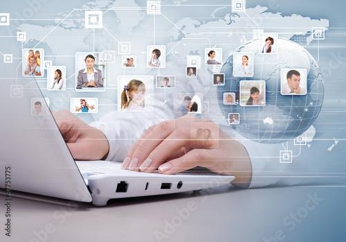 Symbol sieci społecznościowej