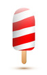Candy cane ice lollies