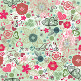 Valentines-day pattern with hearts