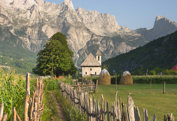 Theth Valley In Albanian Alps