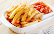 potato fries with sauce