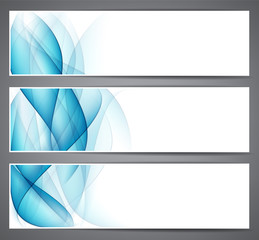 Abstract smoke blue headers.