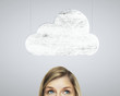woman and cloud