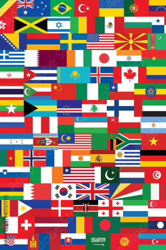 world flags backround vector illustration