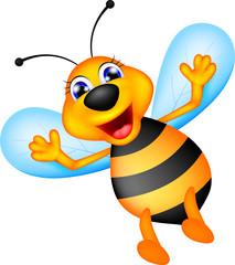 cute bee caroon