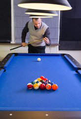 Preparation for playing pool