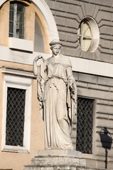 Allegorical statue of Spring in Rome, Italy