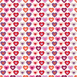 Fototapety Seamless Pattern Hearts In Hearts Retro White