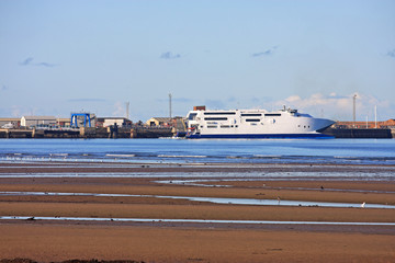 ferry in Troon Harbour