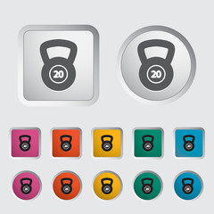 Sport weight single icon.