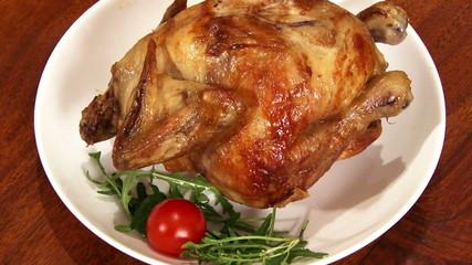 Food, roast chicken, served