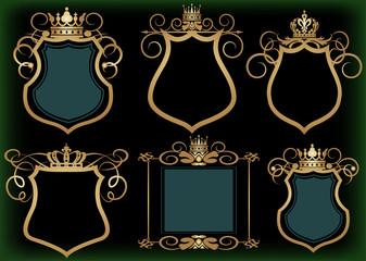 Vector set. Frame. Vintage Elements for your design.