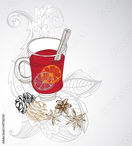 mulled warm wine background