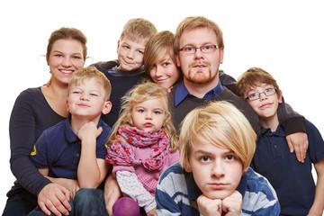 Großes Familienportrait