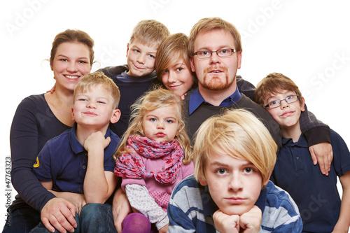 Großes Familienportrait - 47763323