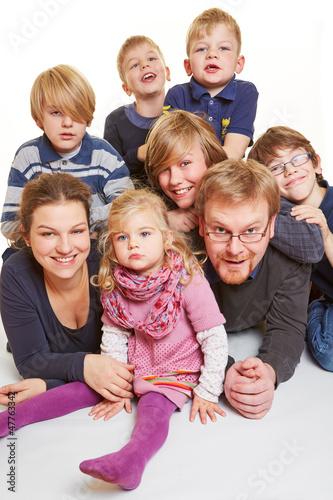 Kinderreiche Familie