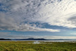 View of clouds over Morecambe Bay, Cumbria.