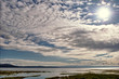 View of altocumulus over Morecambe Bay, Cumbria.