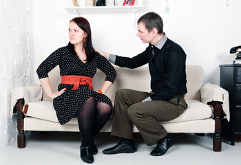 Conflict between man and woman: offense