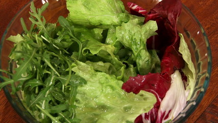 Food, salad, lettuce, arugula, closeup