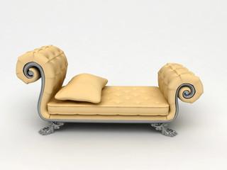 Divano elegante, cuscini