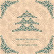 Christmas card for seamless vintage background