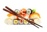 Fototapete Japanisch - Feinschmecker - Tablett / Sortiment