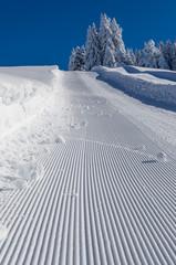 montée enneigée-Savoie