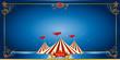 Circus blue invitation