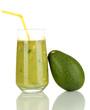 Useful fresh avocado isolated on white