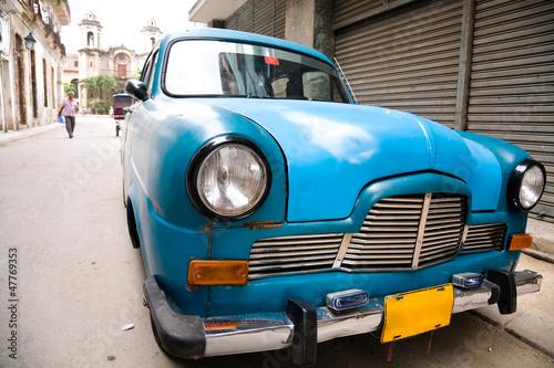Poster Cubaanse oldtimers Old car, Havana, Cuba