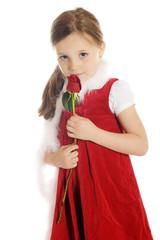 Shy Rosebud Girl