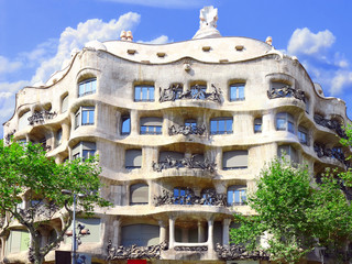 House Casa Mila , Barcelona,Spain.