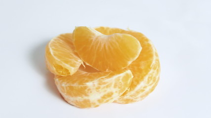 mandarin on white background, rotates