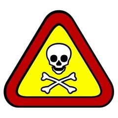 Señal tóxico, peligro de muerte.