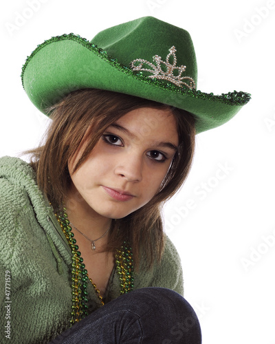 Teen in Green