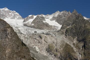 peaks and glaciers in Graian Alps
