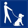 Schild blau - Hundeservice