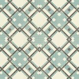 retro geometric seamless pattern in blue, and grey