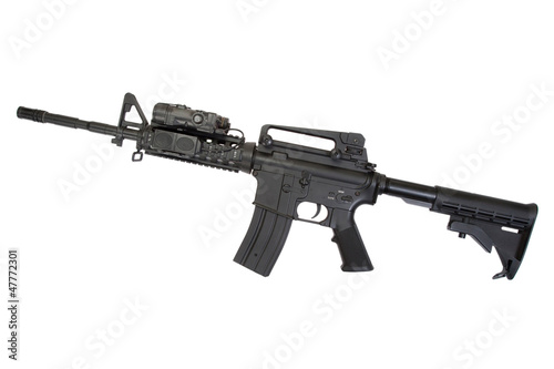 special operation carbine on white background