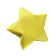 Yellow origami star - 47772558