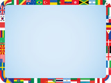 Fototapety world flags frame with rounded corners vector illustration