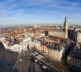 Vue aérienne du centre ville de Lille